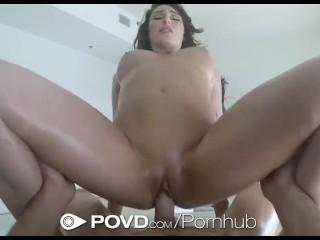POVD – Sexy Chritiana Cinn comes home to a surprise massage