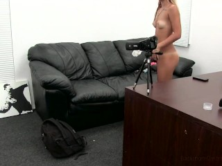 Incredible Blonde Anal and Creampie Casting Video