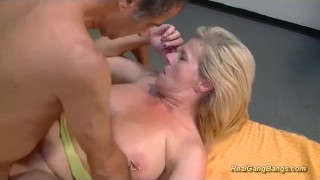 Pierced busty stepmom gangbang bukkake anal