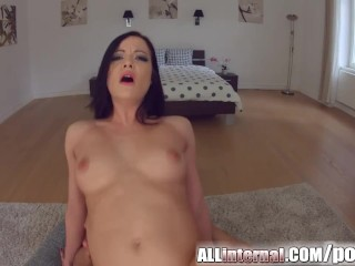 All Internal Big tit babe gets creampied