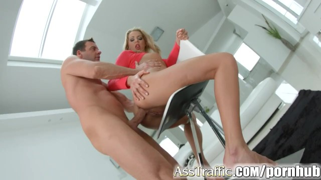 Traffic cone porn Ass traffic rough anal leads to double cum swallow