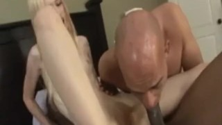 Lucky Starr in Rare Bi-Cuckold Scene  rimjob riding cuckold black blonde blowjob small tits skinny handjob bisexual cock sucking petite mmf huge cock shaved tight doggystyle