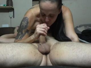 Eat my pussy & fuck my throat! I swallowed 3 loads! Didn't miss a drop :-P