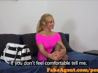 Porno Nyomi FakeAgent Sexy waitress shows off her fucking skills in casting