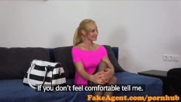 FakeAgent Sexy waitress shows off her fucking skills in casting