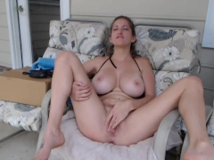 ElaySmith Masturbates Outside
