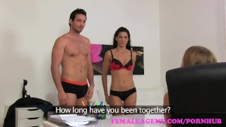 FemaleAgent Sexy threesome with Spanish couple Doggystyle college