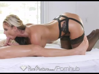 PureMature - Sexy Phoenix Marie in black lingerie is fucked