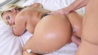 PureMature Sexy Phoenix Marie in black lingerie is fucked