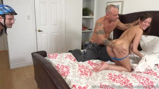 Molly Manson Fucked and Creampied While Cuckolding Her Husband  big cock masturbation creampie cuckold wife husband blowjob big dick bisexual cumeatingcuckolds brunette bull 3some threesome cum eating