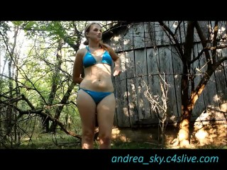 Fucking myself at a old abandoned farm- andrea sky