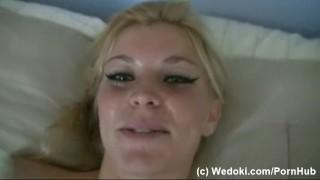 Blonde slut masturbate and anal masturbate with silver vibrator Czech cock