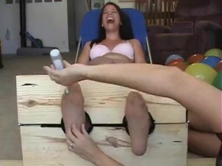 Sage nylon tickle in the stocks