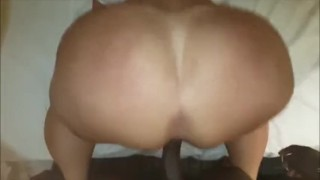 White booties amateur monster doggystyle black ass