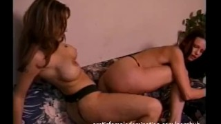 Wild Lesbians Having Fun With A Big Strap on