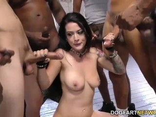 Sexy Masturbate Katrina Jade Sucks Many Black Cocks