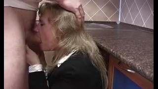 Blonde Housewife In Stockings Receives Deep Pussy Fisting Facial blonde