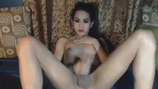 Nasty Shemale Babe Masturbation Show