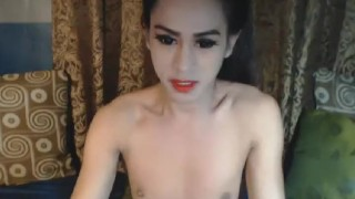 Nasty Shemale Babe Masturbation Show Deepthroat facial