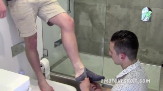 Bottom takes fat amateur cock blowjob big