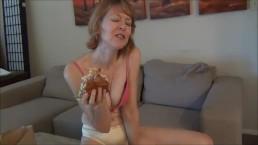 Messy Burger Eating Cougar