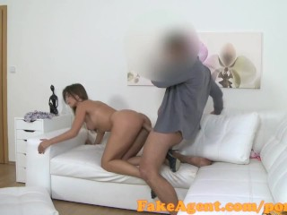 FakeAgent Slim model fucks for work in casting interview