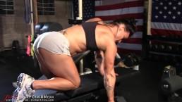 JockGirlsLive.com - workout in shorts