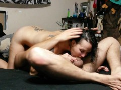 I squirted on his face and swallowed his thick load