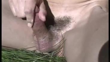 penis massage in nature