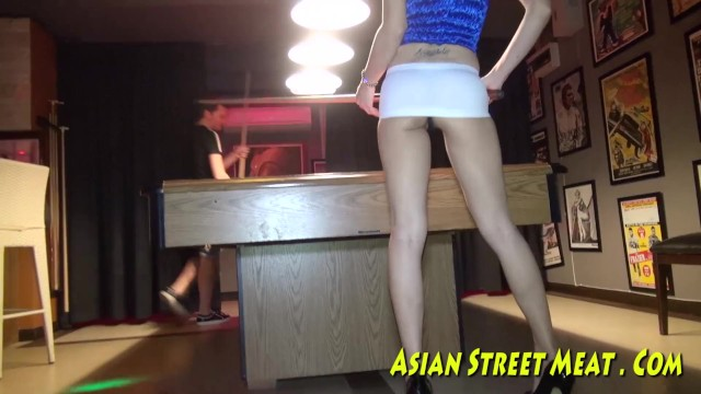 Asians with huge breast tube - Pool hall princess poked up poop tube