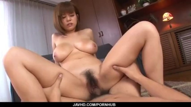 Cum on her hairy pussy after a massive hardcore play