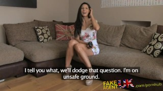 FakeAgentUK Office sex for sporty Spanish babe Deep fuck