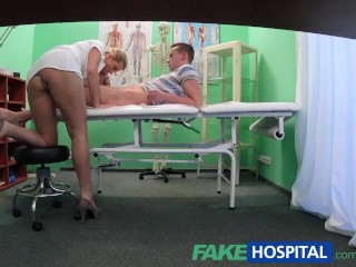 FakeHospital Stud caught giving nurse a creampie