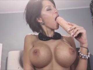 Anisyia livejasmin 2016 blowjob spit on tits 2