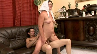 Granny gets out of her wheelchair only to fuck really hard