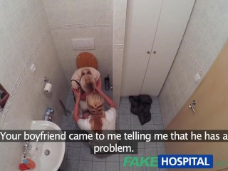 Preview 1 of FakeHospital Nurse watches as sexy couple fuck
