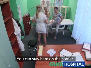 Preview 4 of FakeHospital Nurse watches as sexy couple fuck
