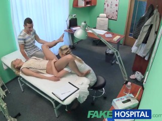 Preview 6 of FakeHospital Nurse watches as sexy couple fuck