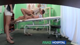 FakeHospital Nurse watches as sexy couple fuck