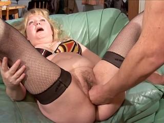 Chubby mature French slut fucked in all holes really hard