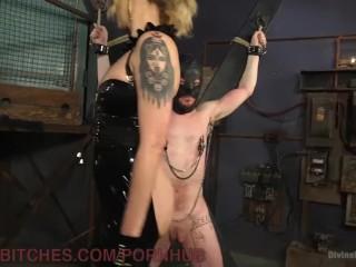 New Slave Takes Brutal Dominatrix Beating