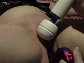 Geeky Chubby Curvy Girl Playing with toy