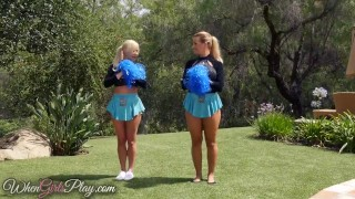 When Girls play - Hot lesbian cheerleaders Shaved girl