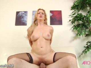 Cherie Deville sucking cock then fucked good