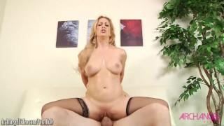 Cherie Deville sucking cock then fucked good