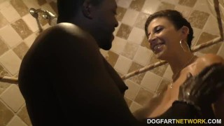 Sara Jay gets ganbanged by black dudes in front of her son porno