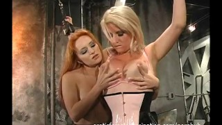 Preview 1 of Hot Slave Tortured By Her Topless Mistress