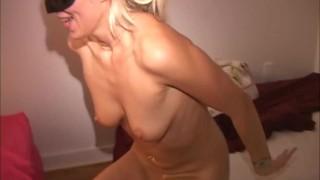 Masked blonde MILF's cum-smeared fuck w hung stranger & busty cougar LongHD