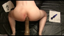Anal Homemade, Single Guy, Black Dildo, (7.75'' x 2'')