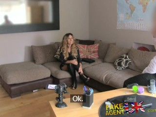 Yourlustgold FakeAgentUK Tight pussy Essex chick returns for 2nd casting couch fucking